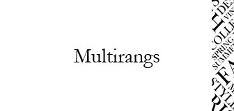 Multirangs