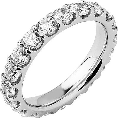 Alliance Séduction tour complet platine sertie griffes 3,50 ct