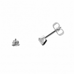 Boucles d'oreilles clou or blanc 750 ‰ serties 3 griffes 0,14 ct