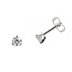 Boucles d'oreilles clou or blanc 750 ‰ serties 3 griffes 0,50 ct