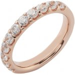 Alliance Séduction demi-tour or rose 750 ‰ sertie griffes 1,00 ct