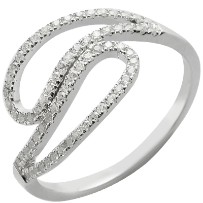 Bague Arabesque or blanc 750 ‰  0,29 ct