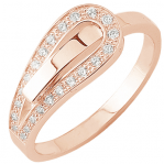 Bague Serment d'amour or rose 750 ‰  0,16 ct