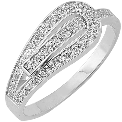Bague Serment d'amour or blanc 750 ‰  0,25 ct