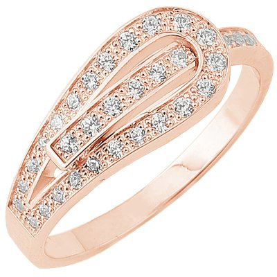 Bague Serment d'amour or rose 750 ‰  0,25 ct